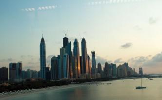 Några av Dubais många skyskrapor.