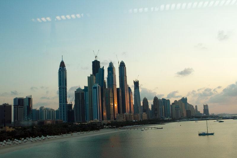 Några av Dubais många skyskrapor