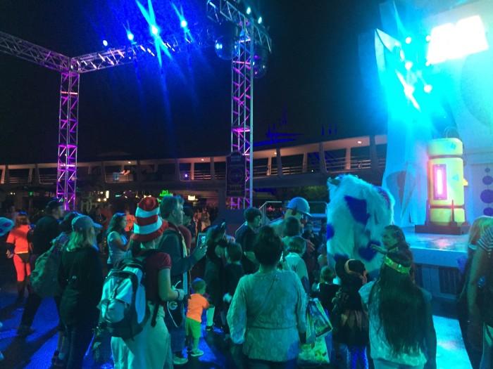 Fartfylld kväll på Mickey's not so scary halloween party.