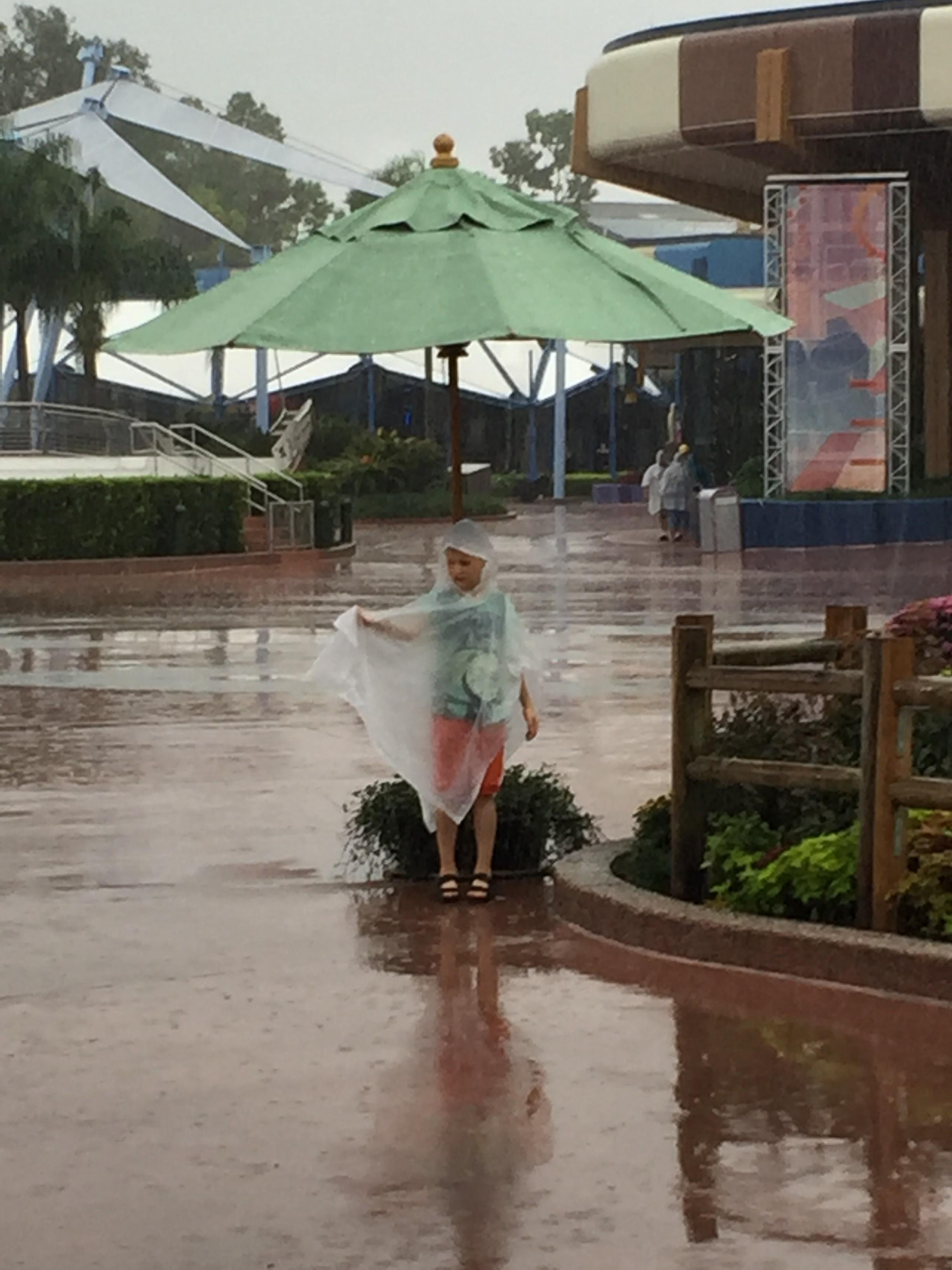 Det kan regna ordentligt i Orlando!