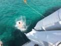 Rutschkana från båten.
